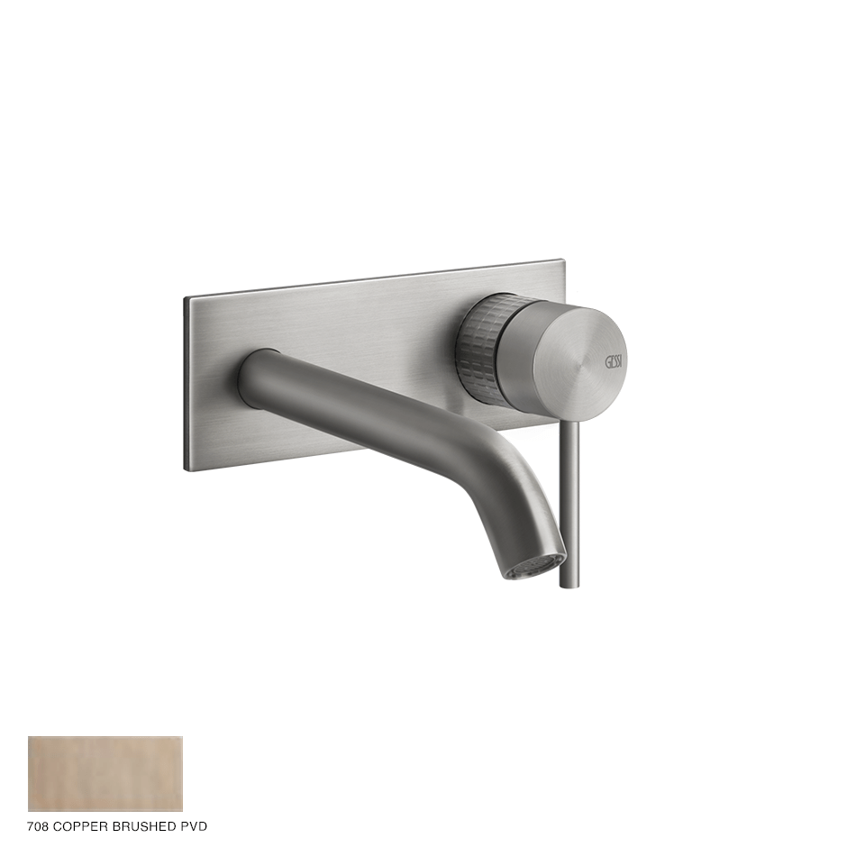Gessi 316 Built-in Mixer with spout Meccanica, without waste 708 Copper Brushed