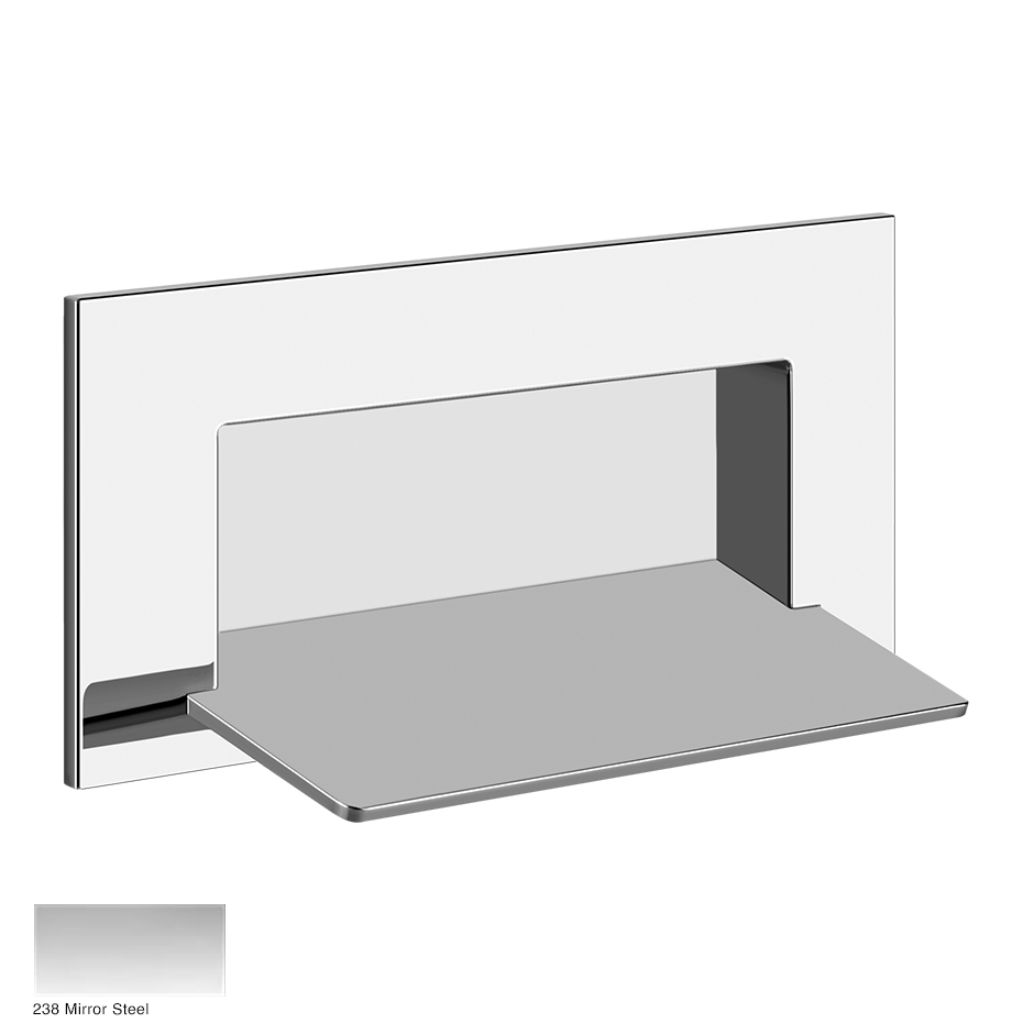 Rettangolo Wall-fixing cascade shower spout, separate control 238 Mirror Steel