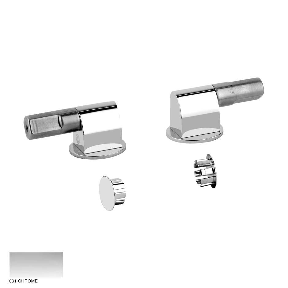 Cono Soft-closing hardware and lateral holes plugs 031 Chrome