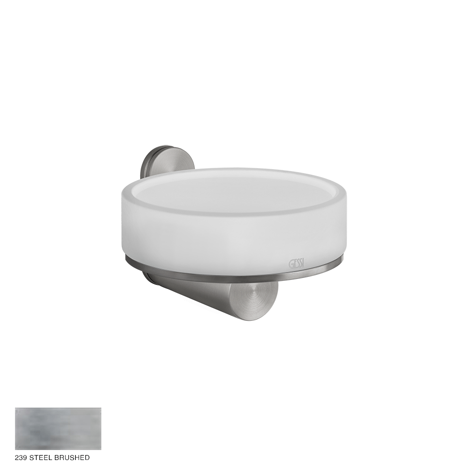 Gessi 316 Wall-mounted soap holder 239 Steel brushed