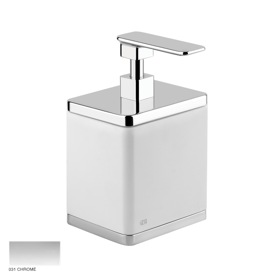 Ispa Standing soap dispenser holder white 031 Chrome