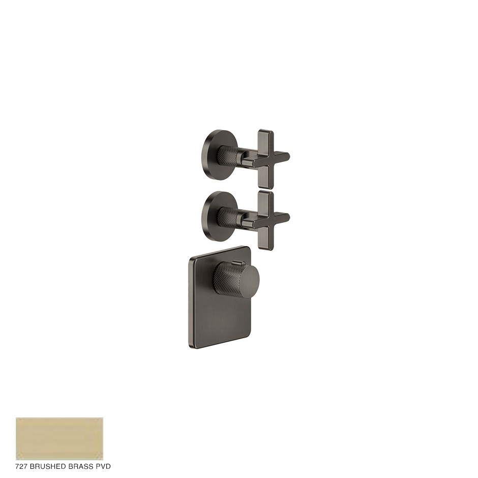 Inciso Wellness Built-in mixer, two outlets 727 Brushed Brass PVD