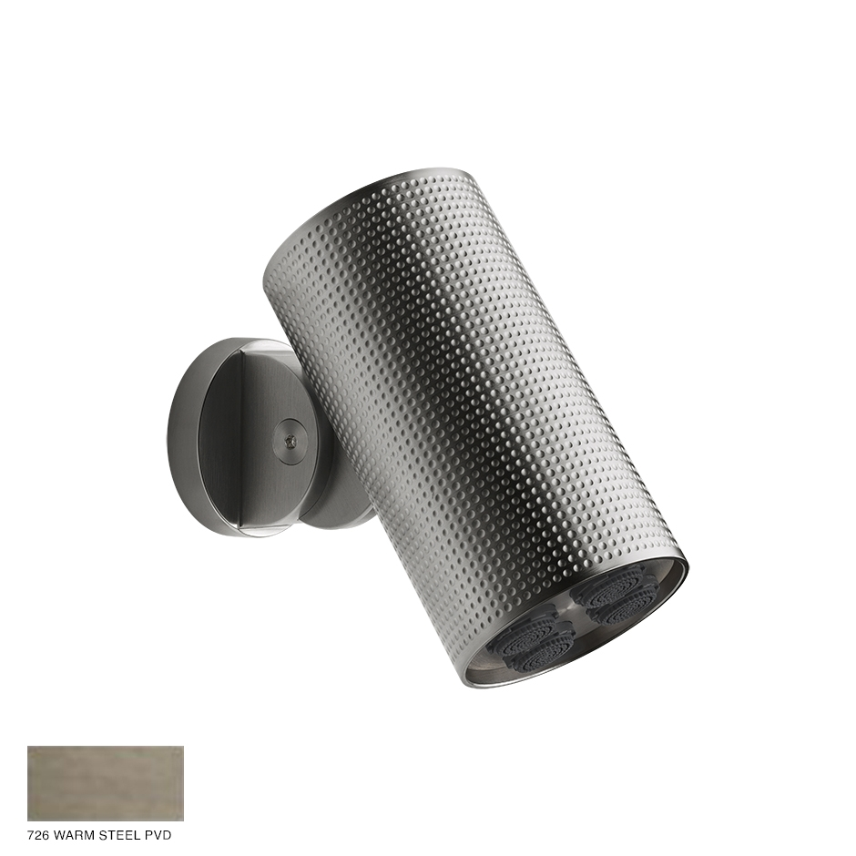 Gessi Spotwater Cesello Wall-mounted Showerhead 726 Warm Bronze Brushed PVD