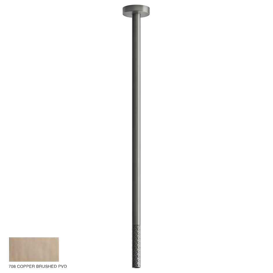 Gessi 316 Ceiling-mounted spout Intreccio, custom length 708 Copper Brushed