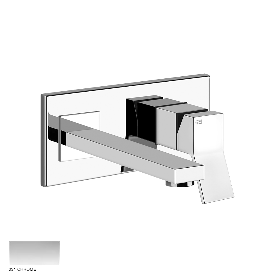 Rettangolo Built-in mixer with spout, without waste 031 Chrome