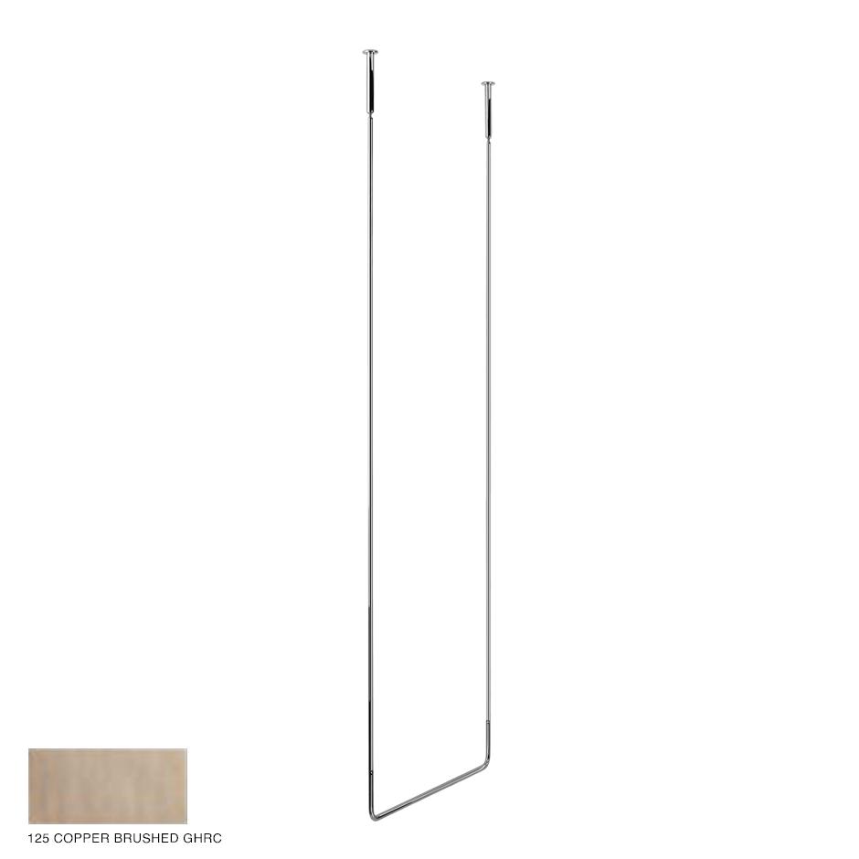 Goccia Ceiling towel rail, 60cm width, 180cm height 125 Copper Brushed GHRC