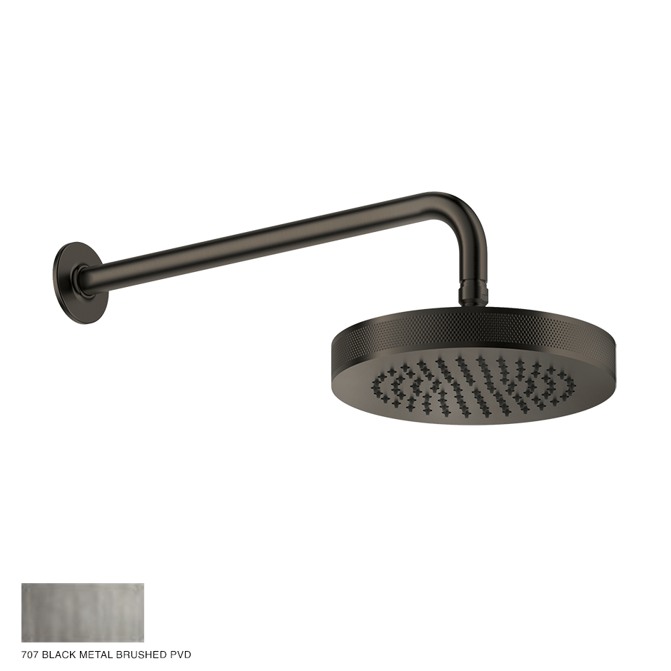 Inciso Wall-mounted Showerhead 707 Black Metal Brushed PVD