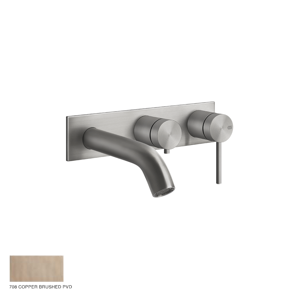 Gessi 316 Two-way Shower Mixer with diverter, tub-filler 708 Copper Brushed