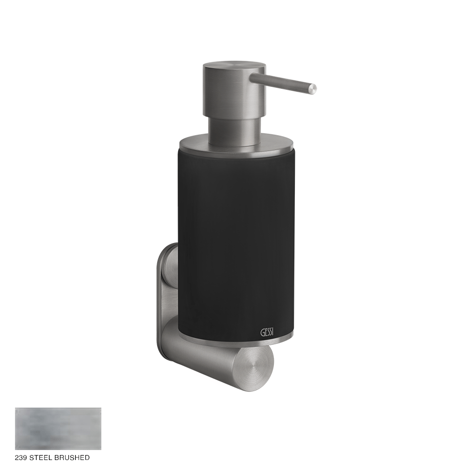Gessi 316 Wall-mounted soap dispenser 239 Steel brushed