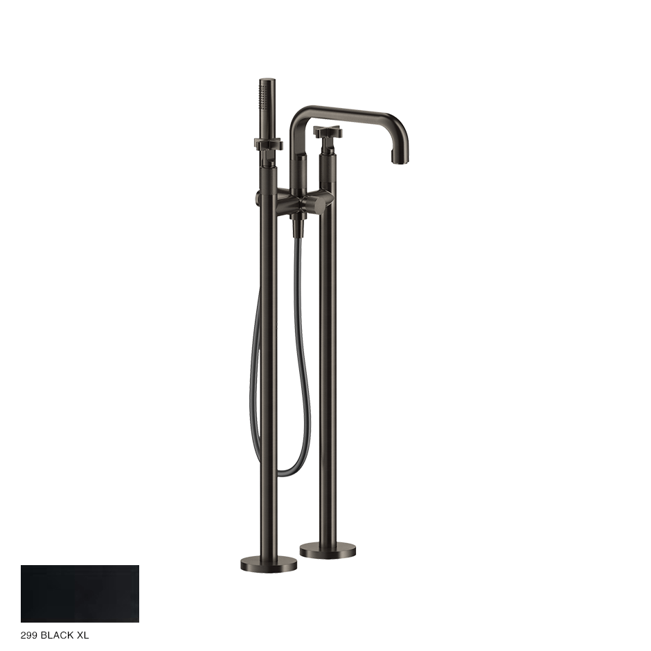 Inciso+ Freestanding External Bath Mixer with handshower 299 Black XL