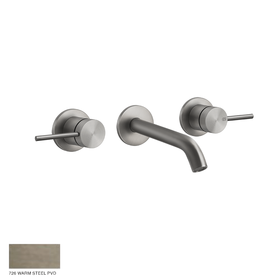 Gessi 316 Built-in Three-hole Mixer Flessa, without waste 726 Warm Bronze Brushed PVD