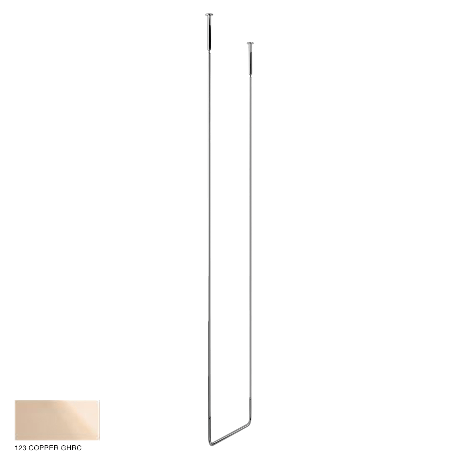 Goccia Ceiling towel rail, 45cm width, 160cm height 123 Copper GHRC