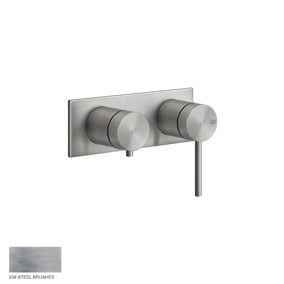 Gessi 316 Built-in Mixer, two-way, automatic diverter 239 Steel brushed