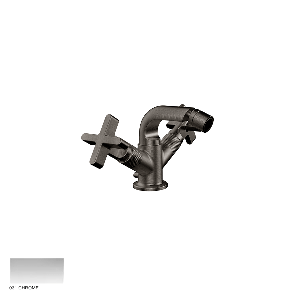 Inciso+ Bidet mixer, with pop-up waste 031 Chrome