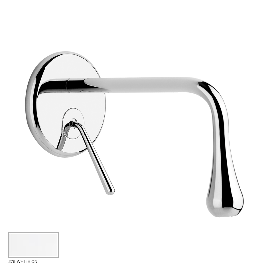 Goccia Built-in mixer with spout, without waste 279 White CN