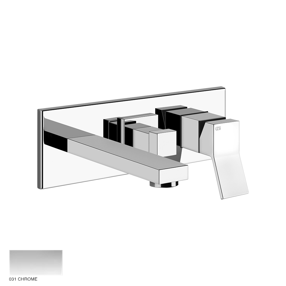 Rettangolo Shower Mixer, two-way, with spout and diverter 031 Chrome