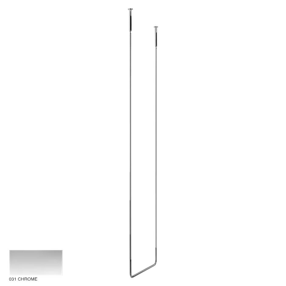 Goccia Ceiling towel rail, 45cm width, 160cm height 031 Chrome