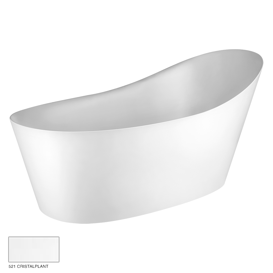 Cono Freestanding bathtub, with waste 521 Cristalplant
