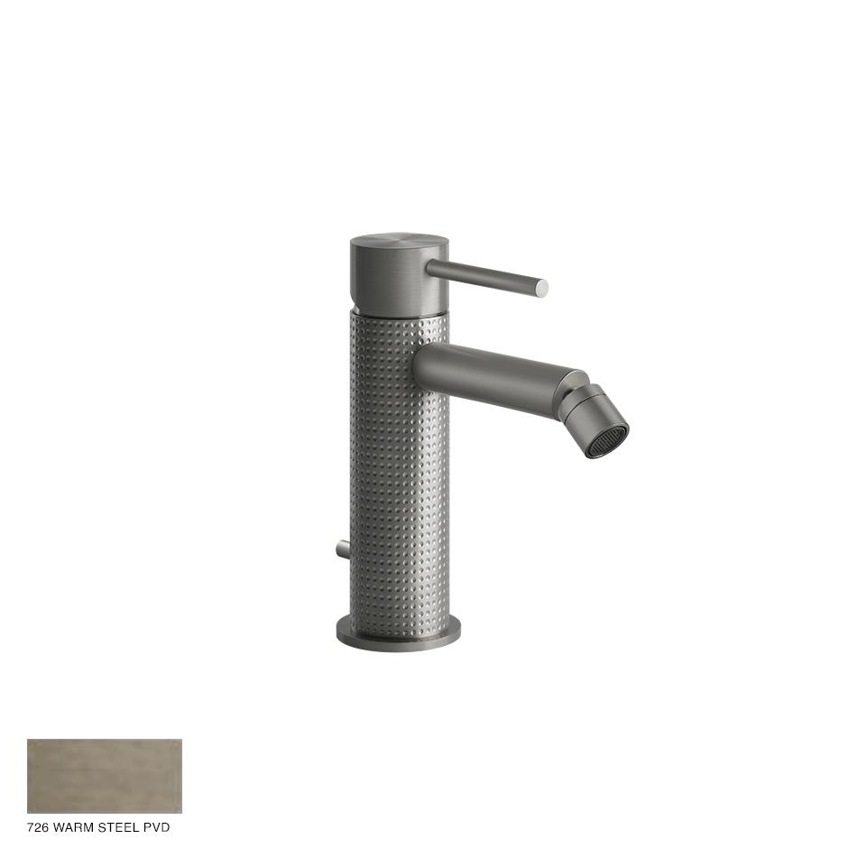 Gessi 316 Bidet mixer Cesello, with pop-up waste 726 Warm Bronze Brushed PVD
