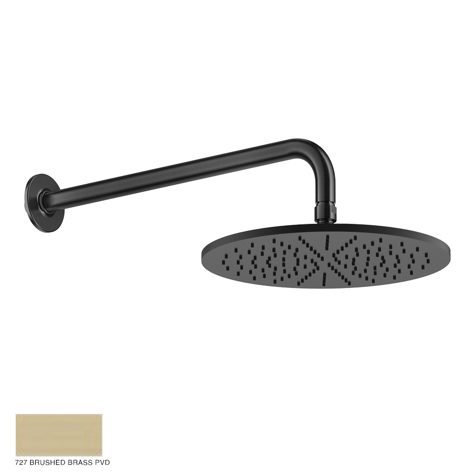 Inciso Wall-mounted Showerhead 727 Brushed Brass PVD