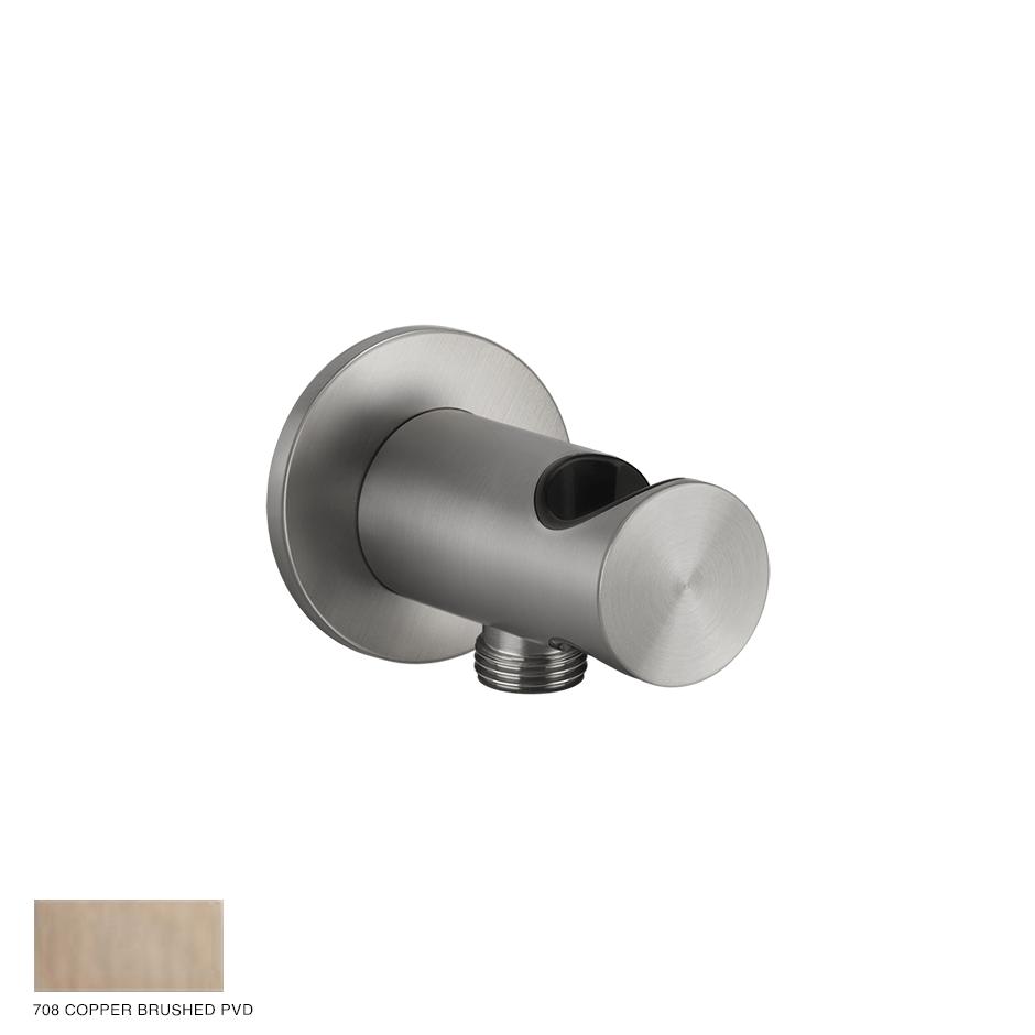 Gessi 316 Handshower hook with water outlet 708 Copper Brushed