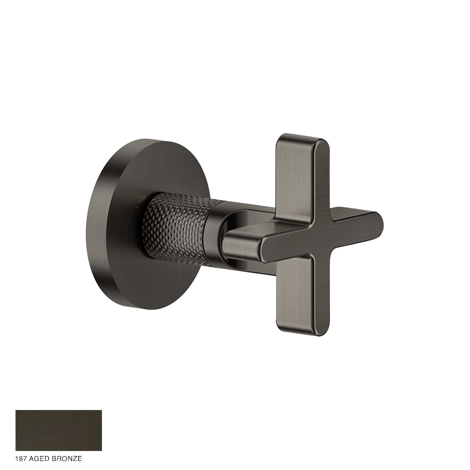 Inciso Wellness Stop valve for thermostatic mixer 187 Aged Bronze