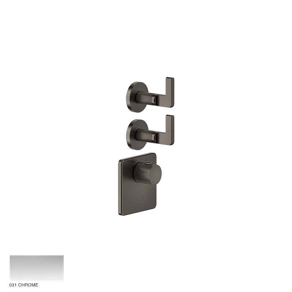 Inciso Wellness Built-in mixer, two outlets 031 Chrome