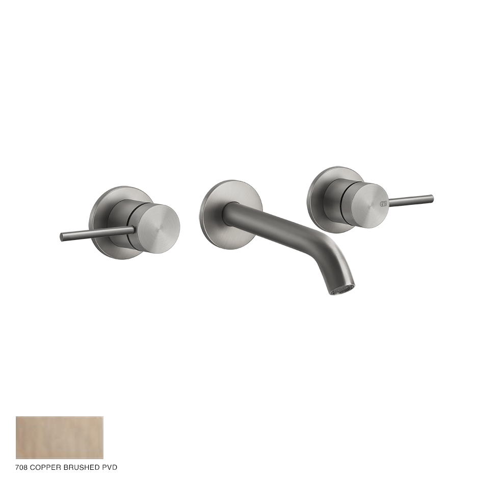 Gessi 316 Built-in Three-hole Mixer Flessa, without waste 708 Copper Brushed PVD