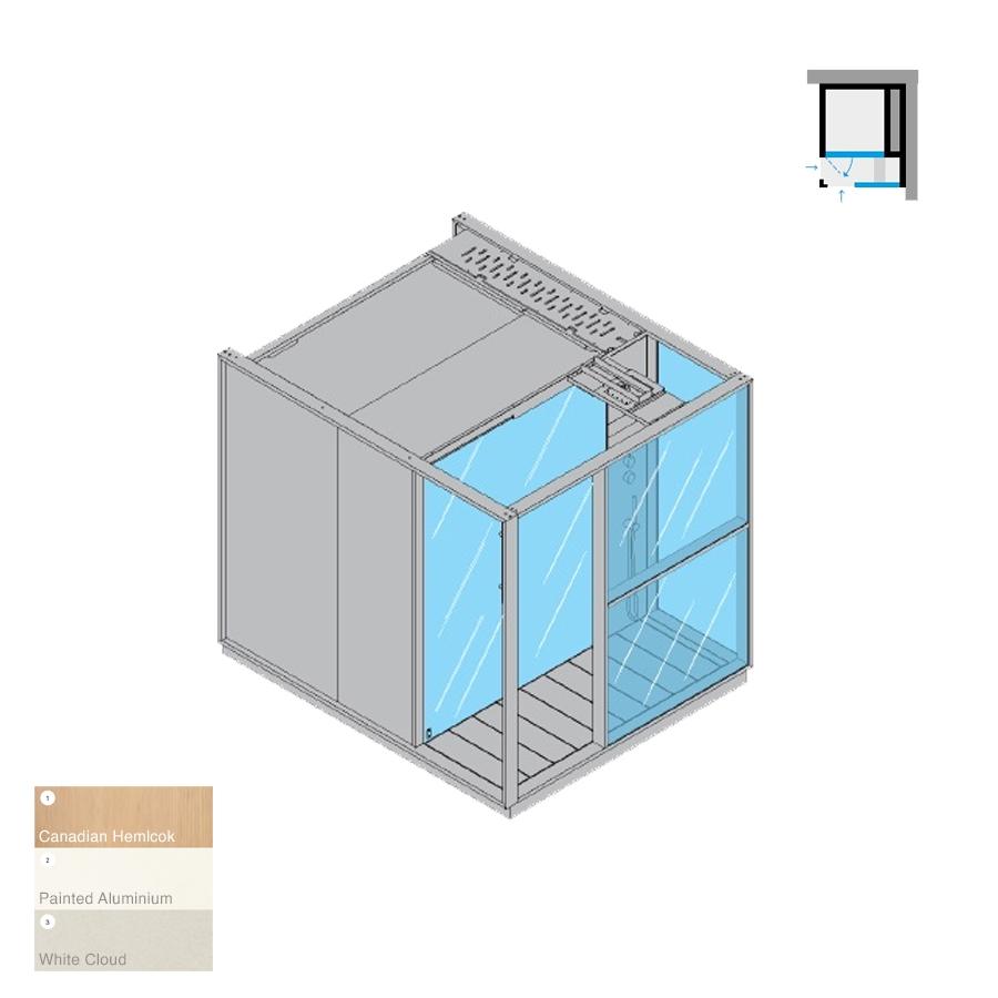 Logica S Right-Hand Corner RH White Cloud 214x250x226h 6kW