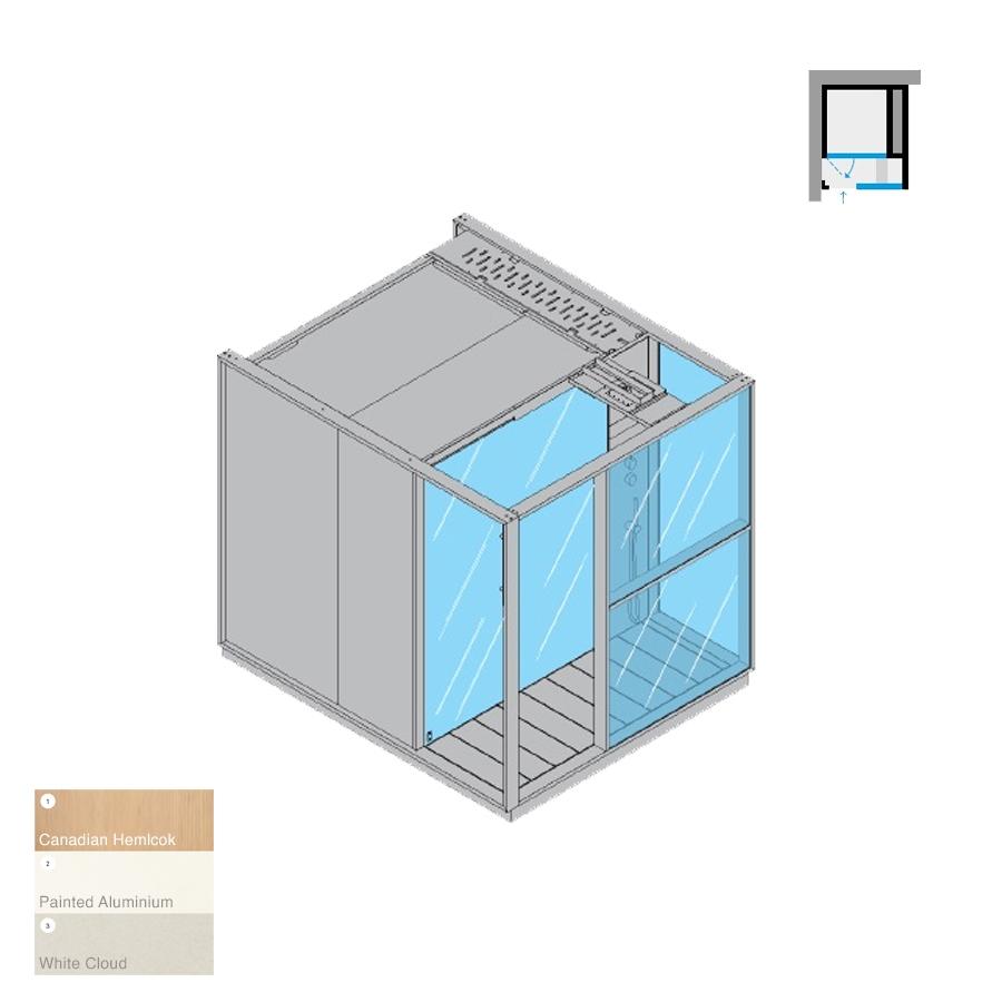 Logica S Left-Hand Corner RH White Cloud 214x250x226h 6kW