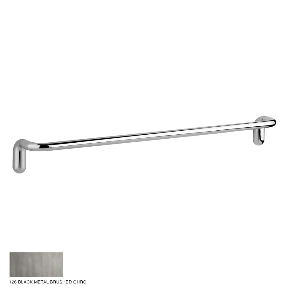 Goccia Towel rail, 45cm 126 Black Metal Brushed GHRC