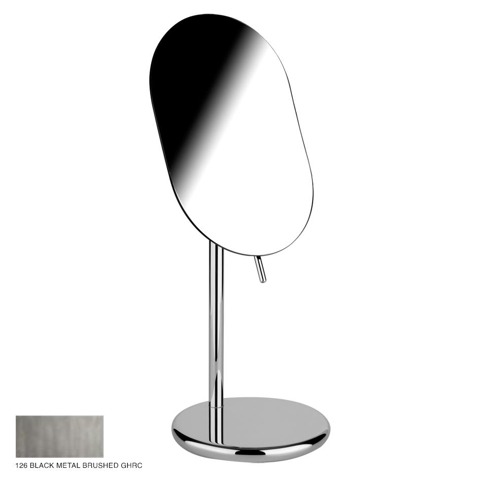 Goccia Adjustable standing mirror 126 Black Metal Brushed GHRC