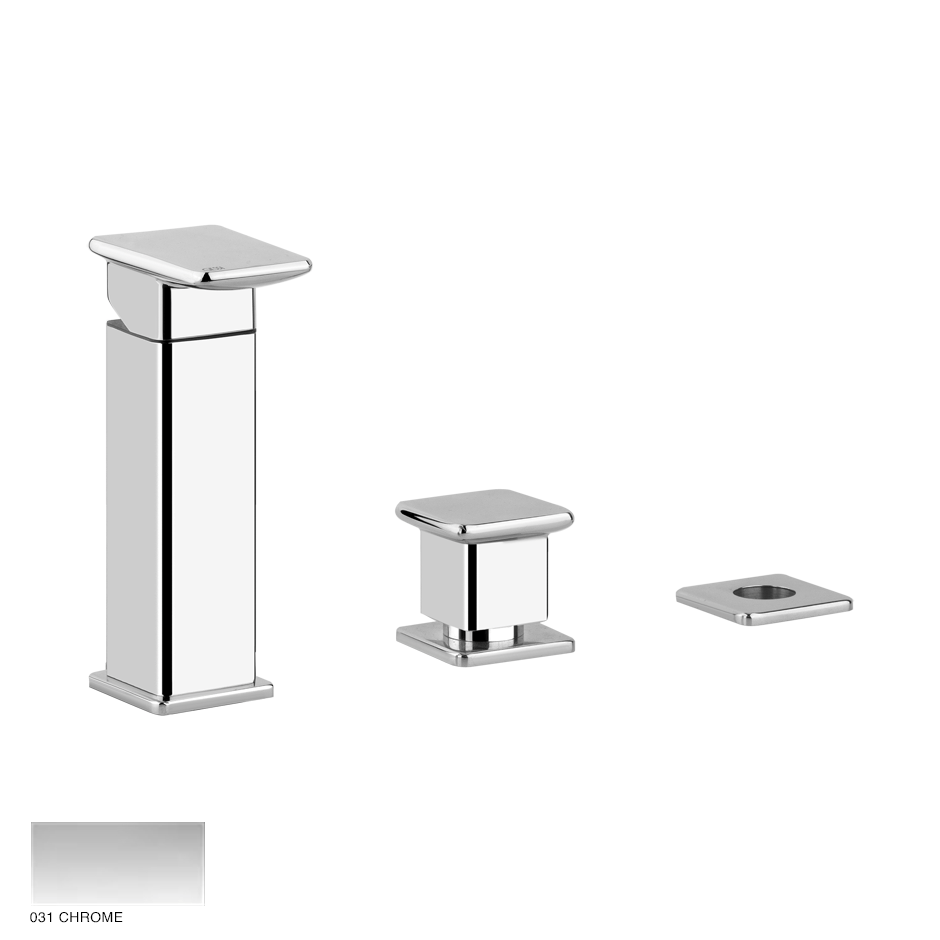 Ispa Bath Three-hole bath mixer with diverter, flexibile hose 1.5m 031 Chrome