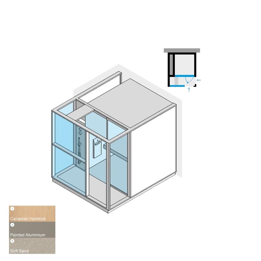 Logica H Peninsula LH Soft Sand 214x250x226h 4.5kW