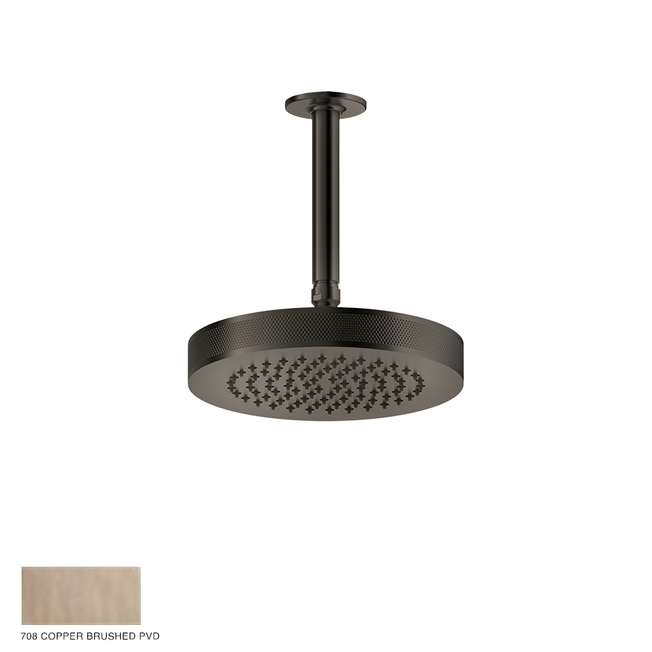Inciso Ceiling-mounted Showerhead, custom length 708 Copper Brushed PVD