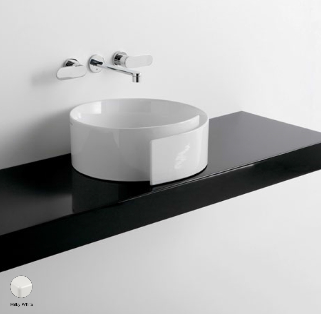 Roll Shelf from 80 to 250 x 46 x h 10 cm suitable for Roll 44 basin Milky White