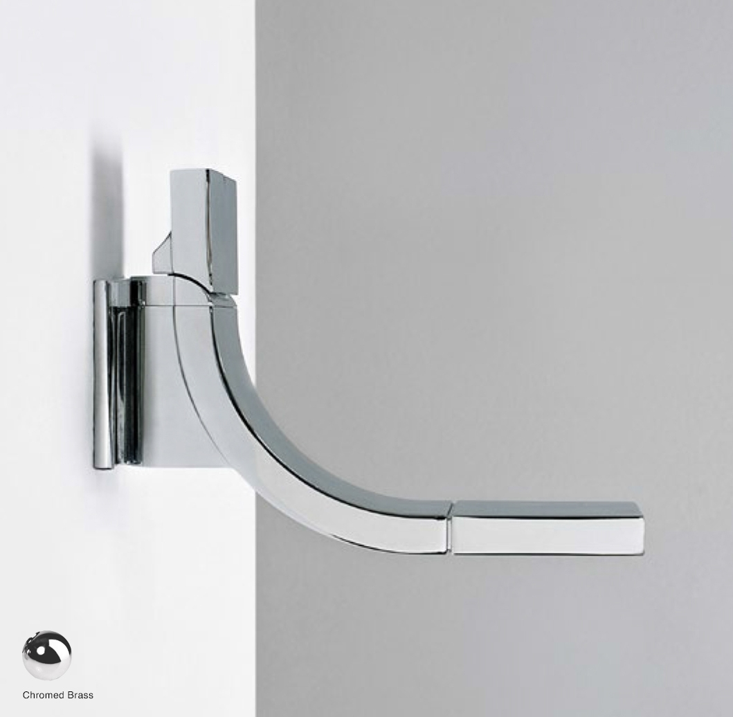 Si Up Wall-mounted dual controls basin mixer, stop and go drain included Chrome