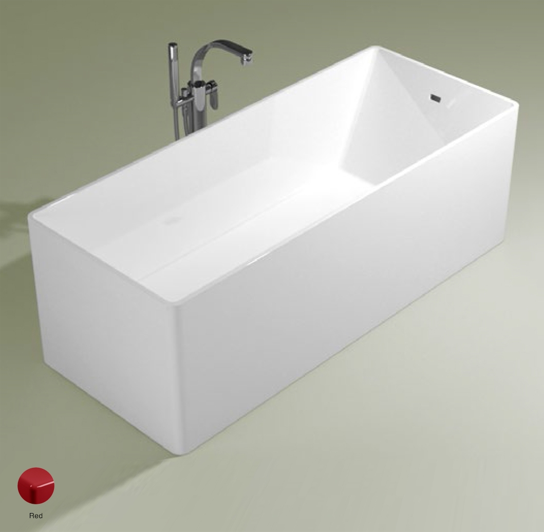 Wash Bath-tub 170 cm in Pietraluce Red