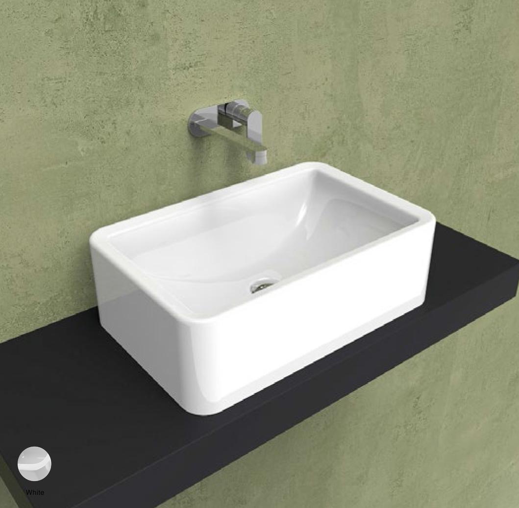 Nile Countertop basin 62 h 20 cm White