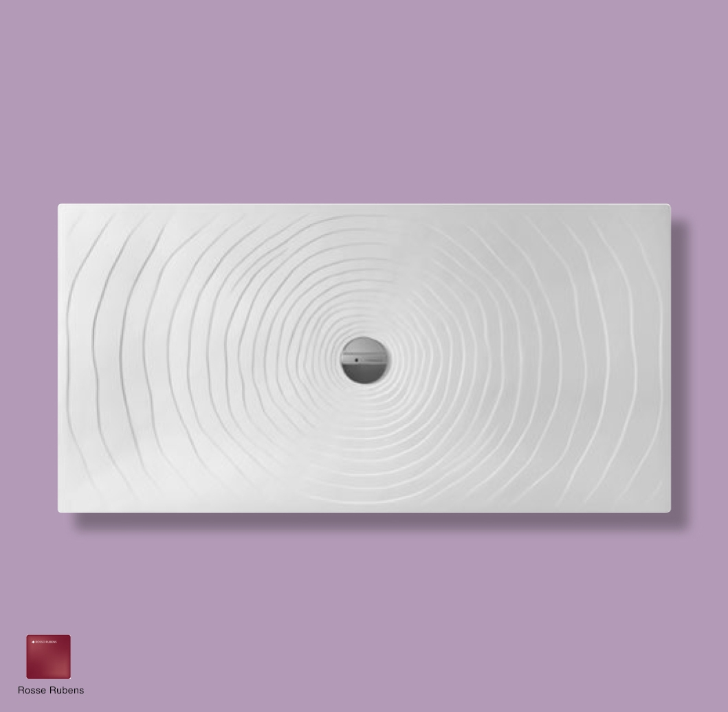 Water Drop Laid on or built-in in the floor shower tray 160x80 cm Rosso Rubens