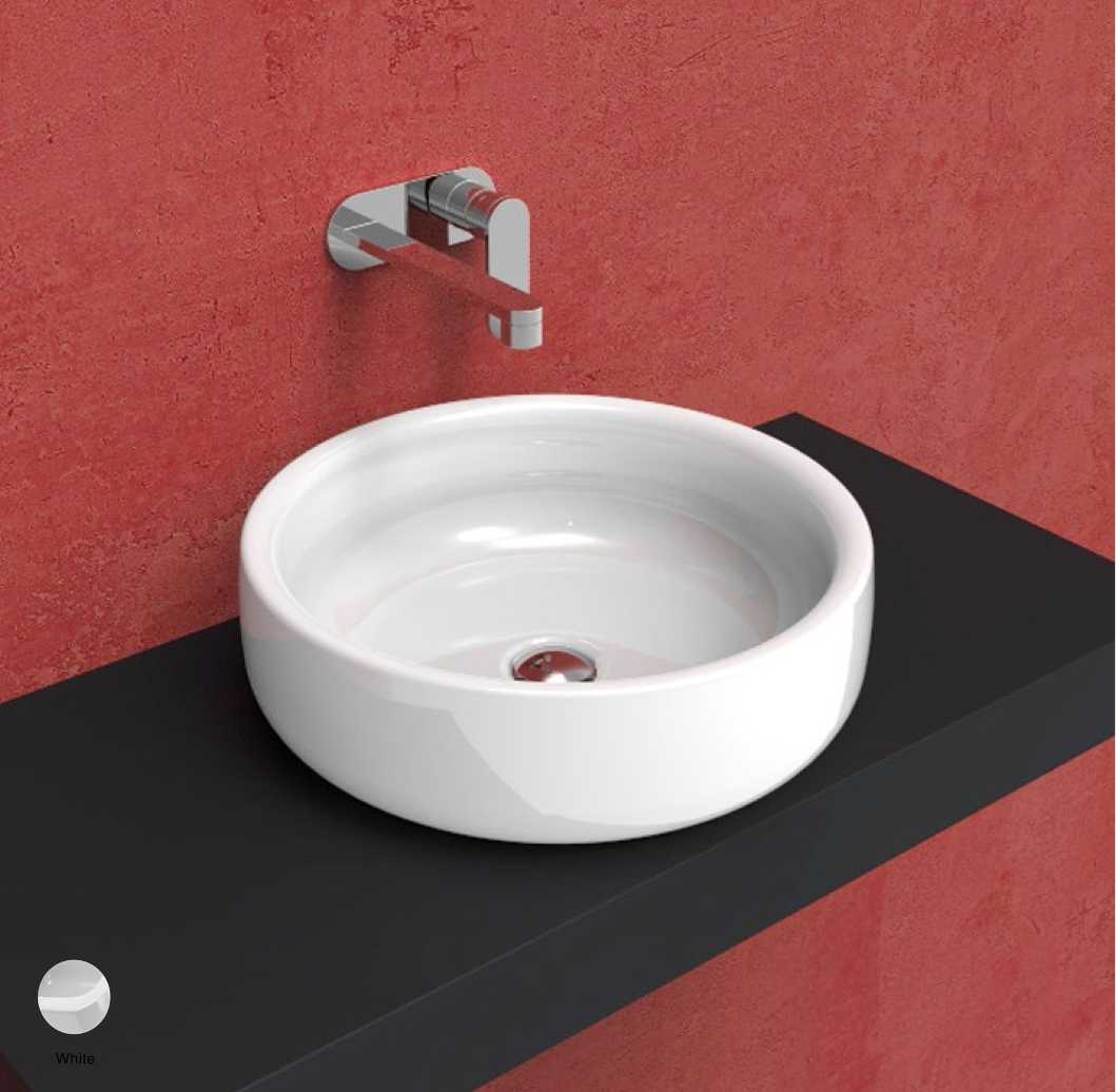 Bonola Basin 46 cm - countertop or suitable for pedestal White
