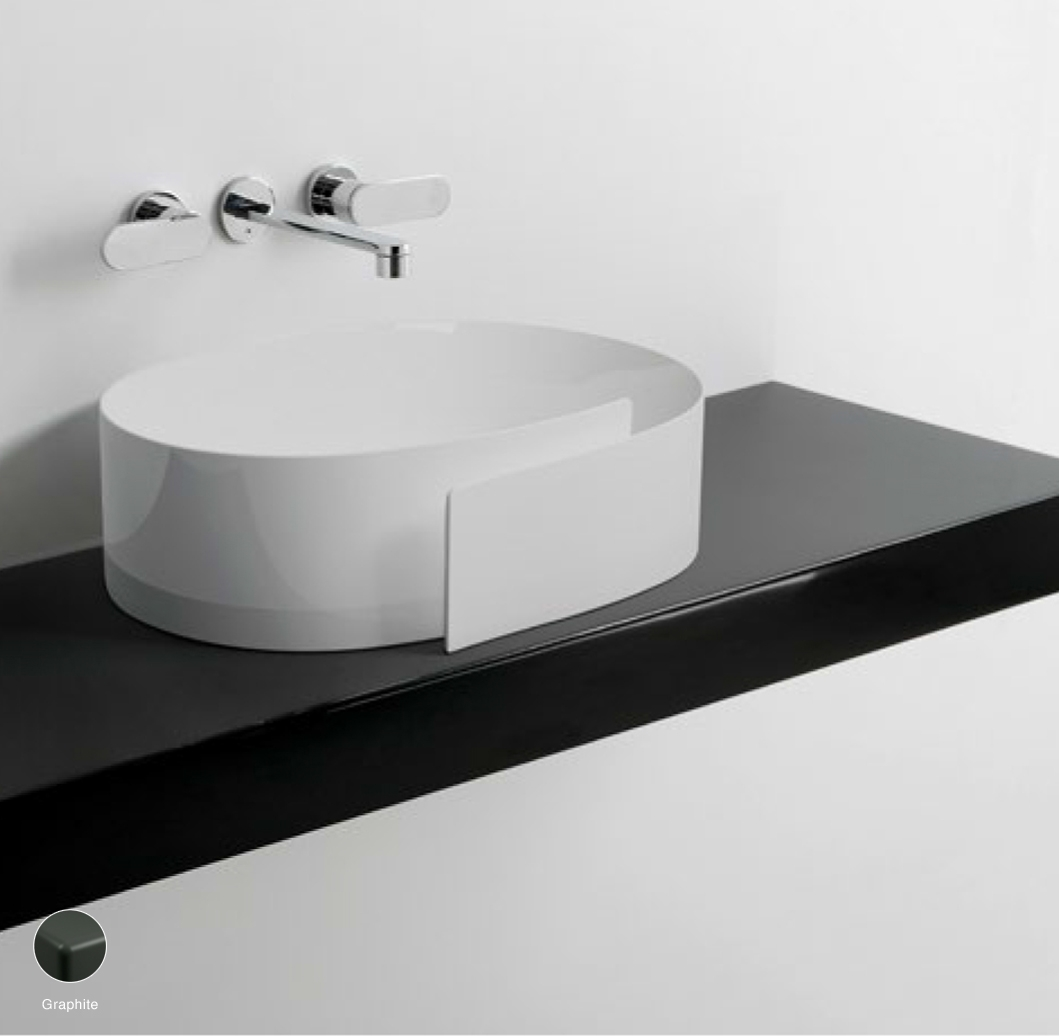 Roll Shelf from 80 to 250 x 46 x h 10 cm suitable for Roll 56 basin Graphite