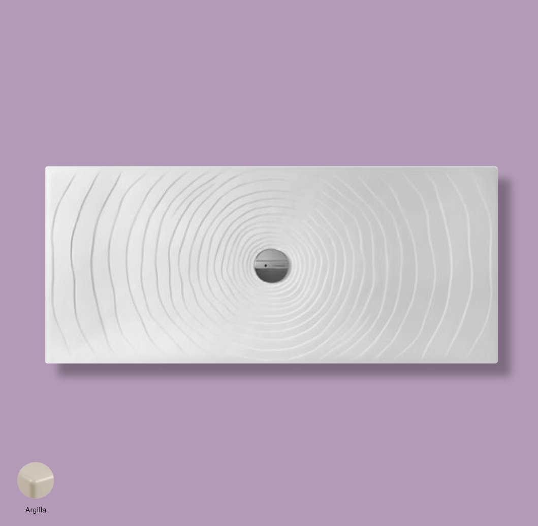 Water Drop Laid on or built-in in the floor shower tray 160x70 cm Argilla