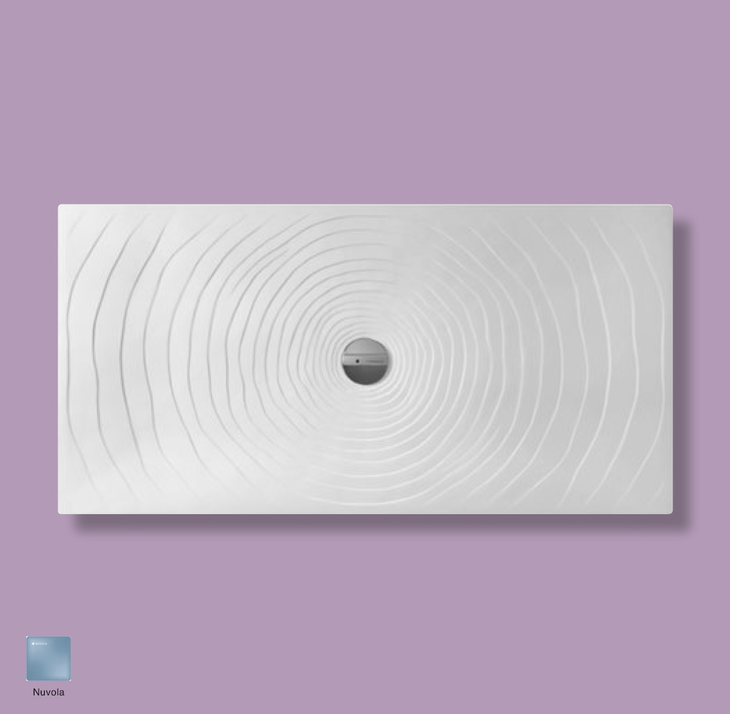 Water Drop Laid on or built-in in the floor shower tray 160x80 cm Nuvola