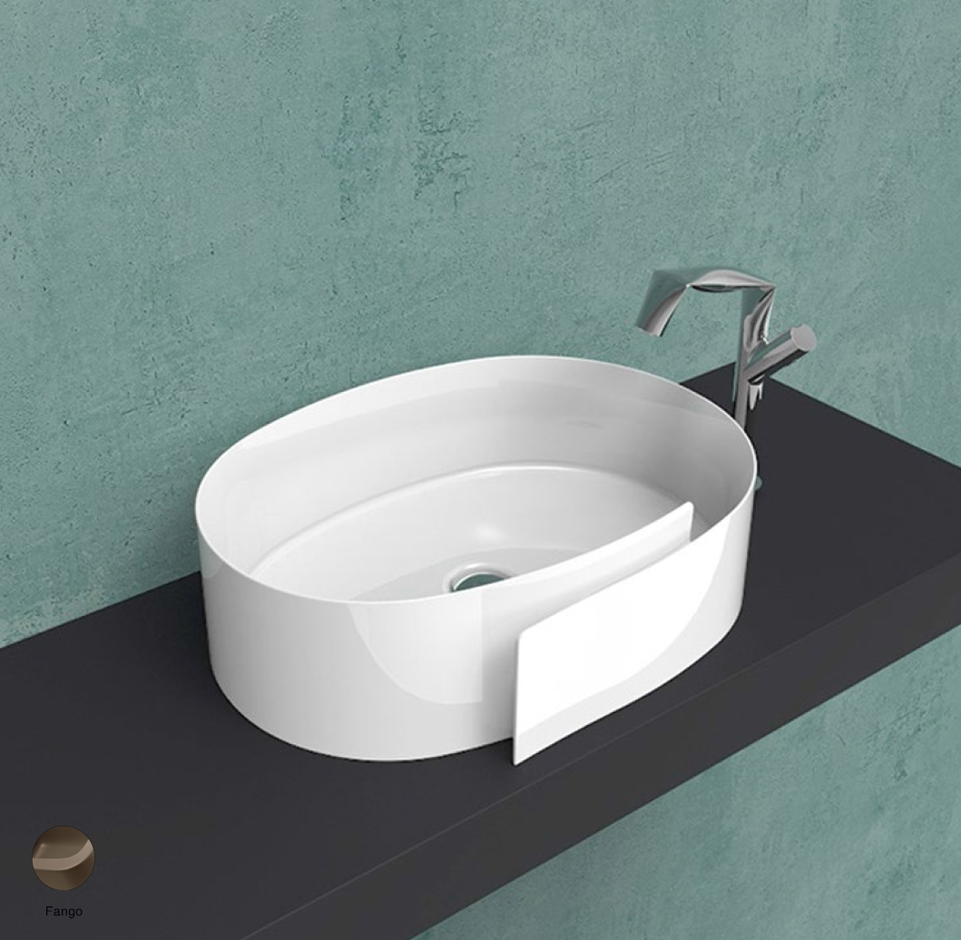 Roll Countertop basin 56 cm without overflow, without tap ledge Fango