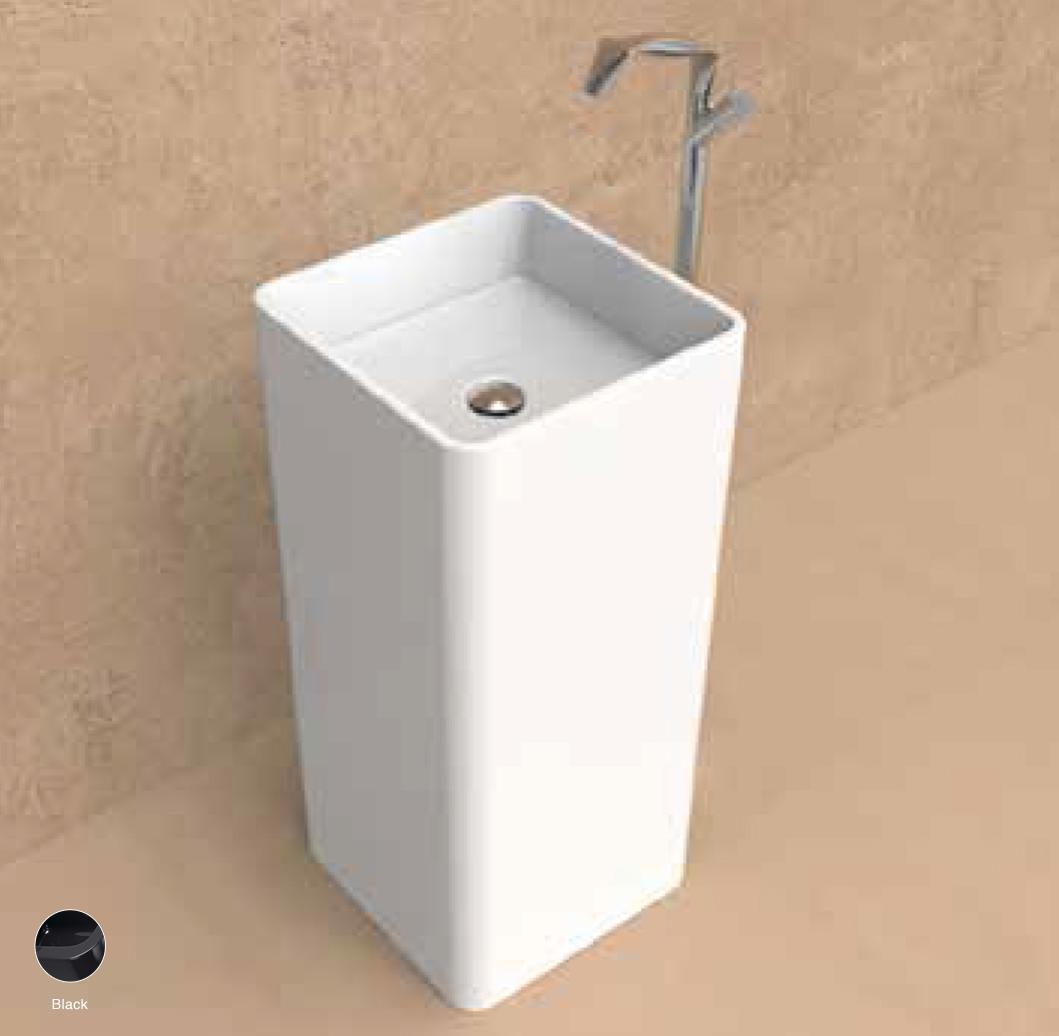 Monowash Standing column-basin 40 cm Black