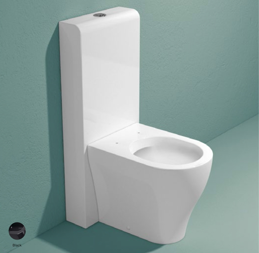 App Monoblock cistern with wall trap Black