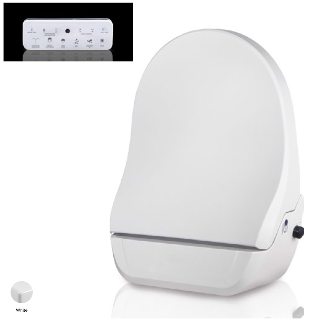 App Electronic coverseat with bidet function, 21 Functions+Remote Control White