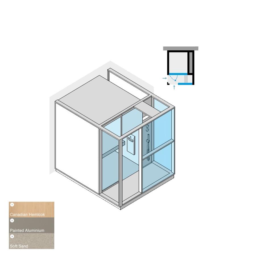 Logica H Peninsula RH Soft Sand 214x250x226h 4.5kW