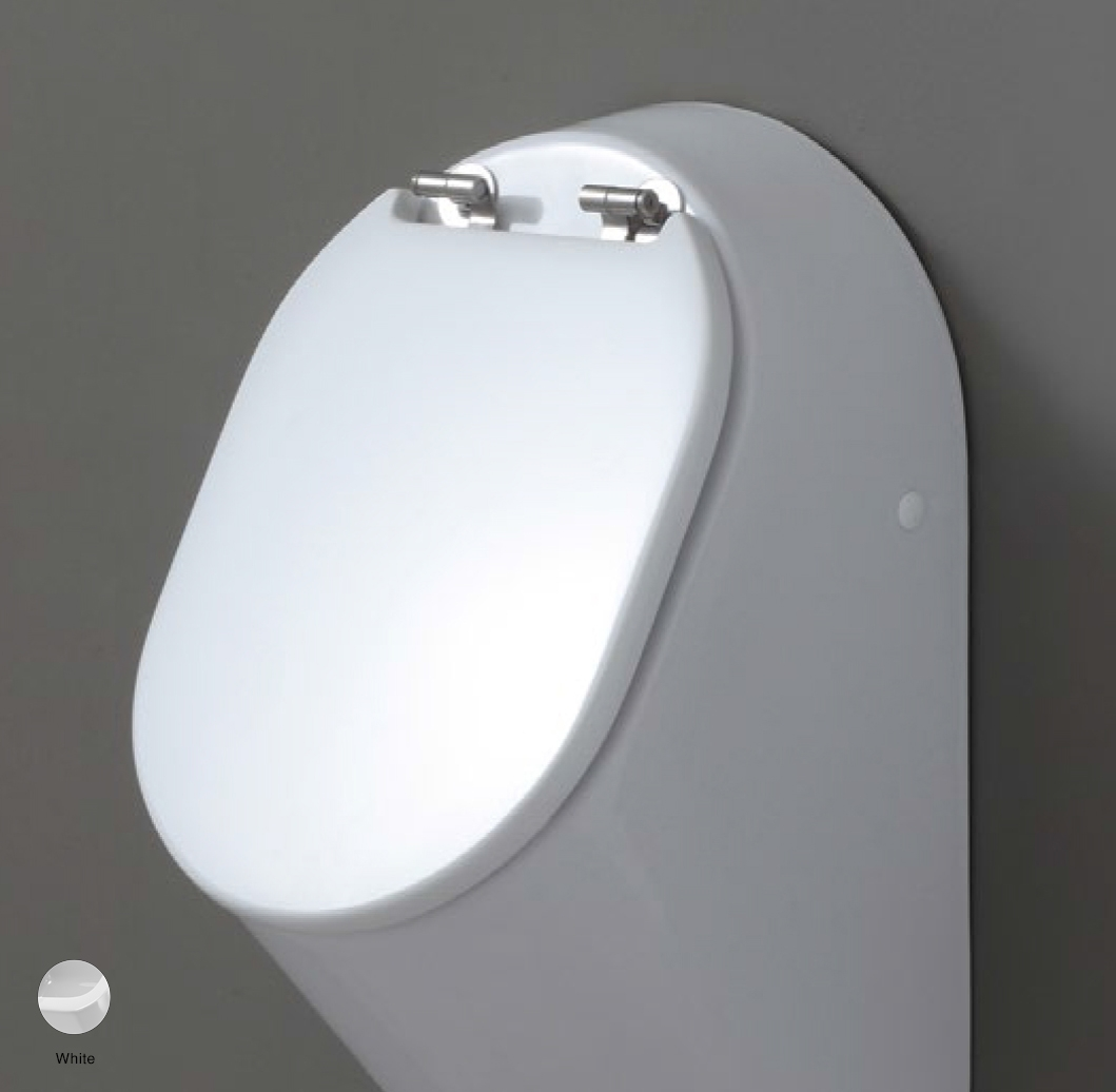 Key Wood/polyester cover suitable for urinal White